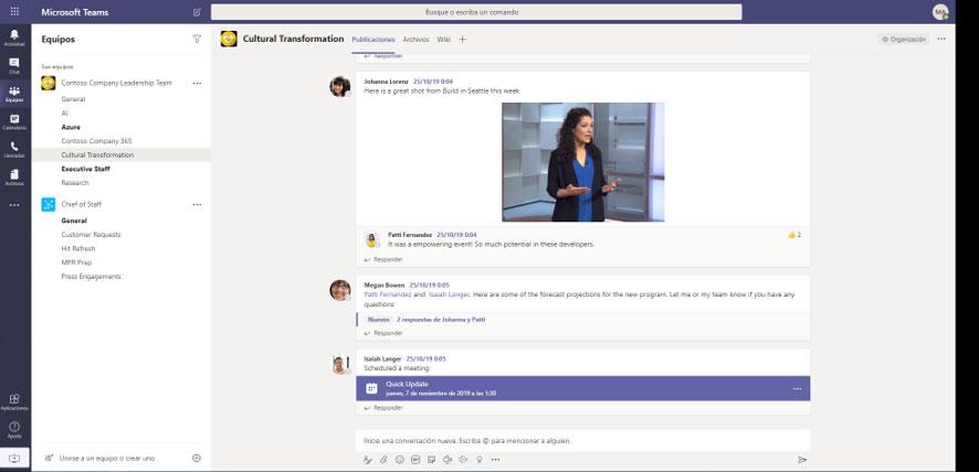 Microsoft teams pantallazo